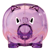 Piggy purple-Clip